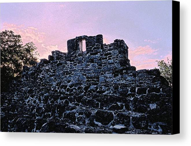 Ruins Canvas Print featuring the photograph Mayan Ruins In Cozumel Mexico by Thomas Firak