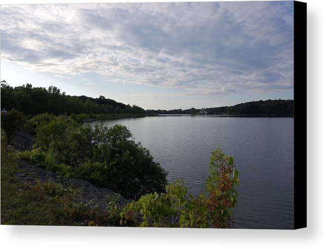 Nature Canvas Print featuring the photograph Medina Lake by Lauren Macko