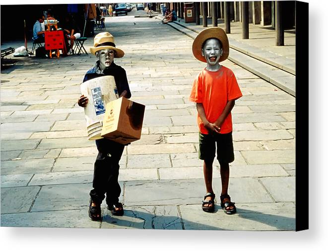 Big Easy Canvas Print featuring the photograph Memories Of A Better Time The Children Of New Orleans by Christine Till