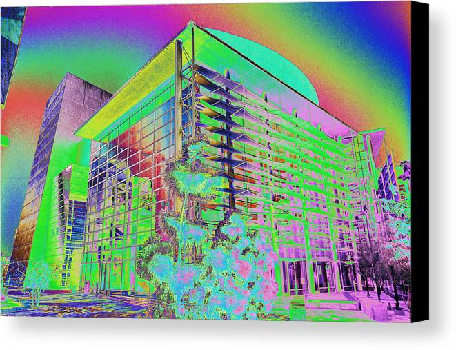 Psychedelic Canvas Print featuring the photograph Mesa Art Center by Richard Henne