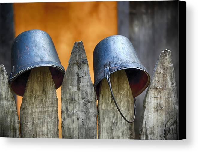Bucket Canvas Print featuring the photograph Not Soldiers by Inho Kang
