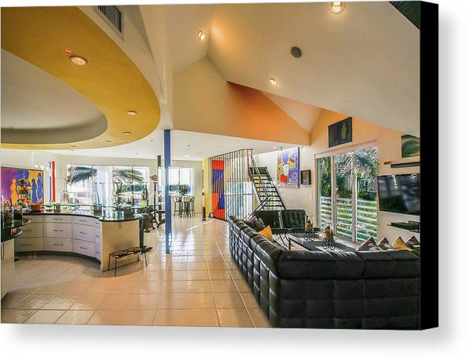 Interior Real Estate Photography Canvas Print featuring the photograph Miami Interior Photography by Charles Markman
