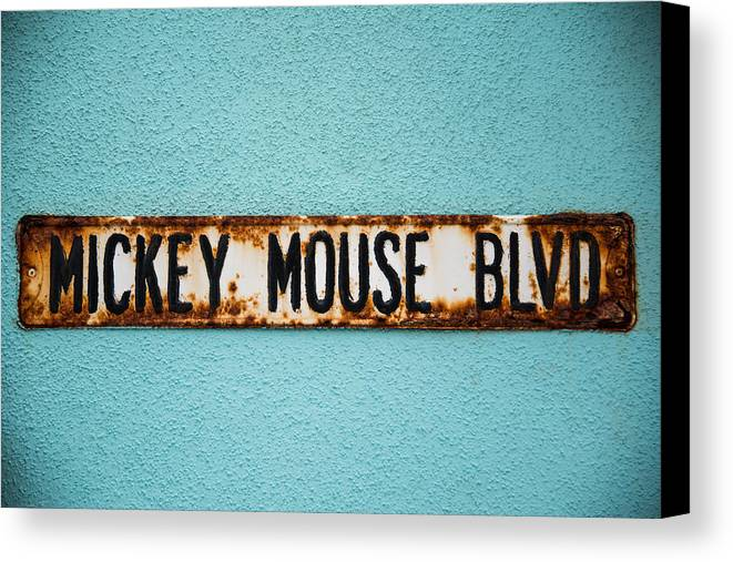 Signs Canvas Print featuring the photograph Mickey Mouse Blvd by Alejandro Cupi