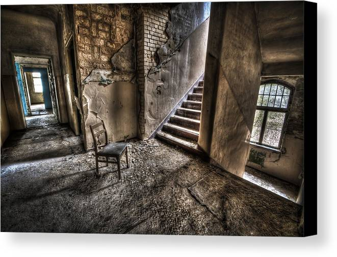 Room Canvas Print featuring the photograph Middle Floor Seating by Nathan Wright