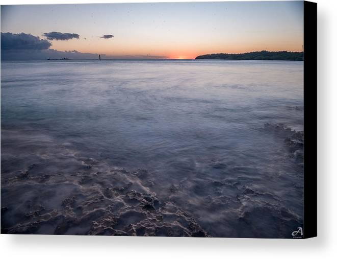 Sunset Canvas Print featuring the photograph Mild by Alex McCorry