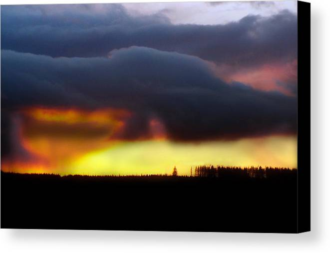 Minera Canvas Print featuring the photograph Minera Sunset 2 by Brainwave Pictures