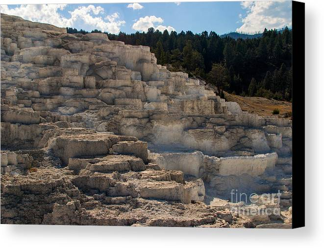 Minerva Terrace Canvas Print featuring the photograph Minerva Terrace by Charles Kozierok