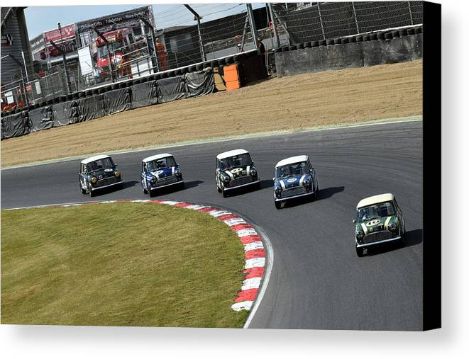 Brands Hatch Canvas Print featuring the photograph Mini Festival Brands Hatch by Stephen Hulme