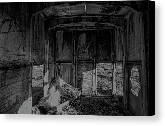 Abandoned Canvas Print featuring the photograph Mini Urbex by Keith Elliott