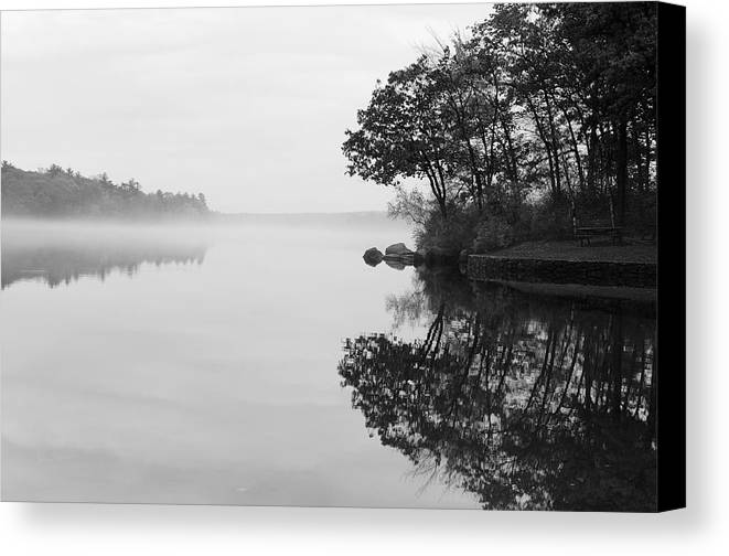 Douglas Canvas Print featuring the photograph Misty Cove by Luke Moore