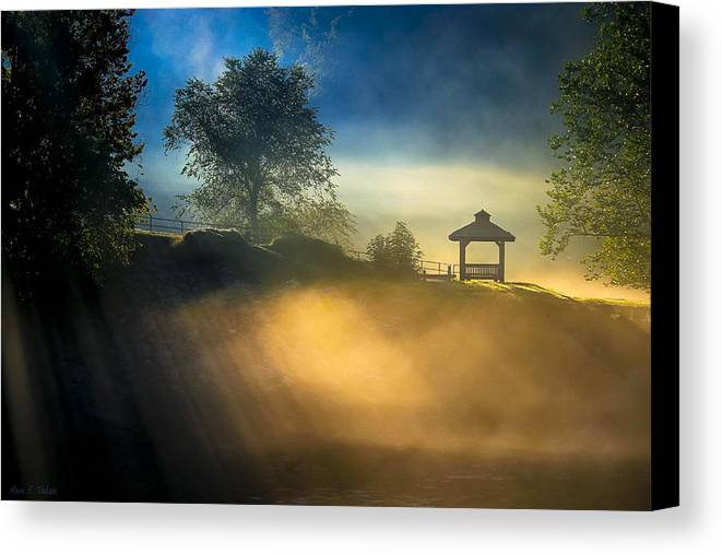 Georgia Canvas Print featuring the photograph Misty Morning On The Chattahoochee by Mark E Tisdale