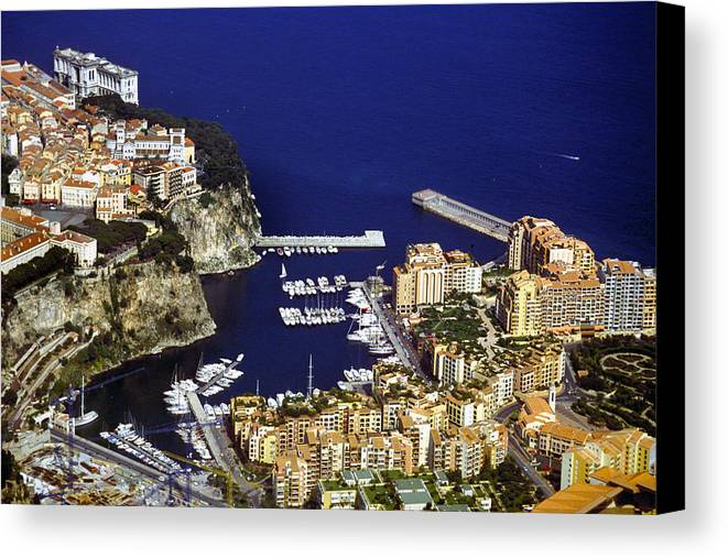 Rich Canvas Print featuring the photograph Monaco On The Mediterranean by Carl Purcell