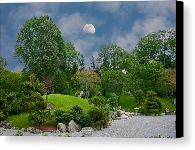 Moon Canvas Print featuring the photograph Moonrise Meditation by Charles Warren