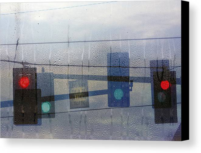 Rain Canvas Print featuring the photograph Morning Commute by Rebecca Cozart