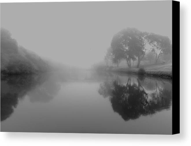 Morning Mist Canvas Print featuring the photograph Morning Mist by Win Naing