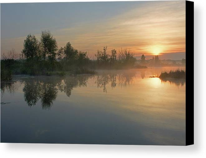 Morning Canvas Print featuring the photograph Morning On The River by Yurii Shelest