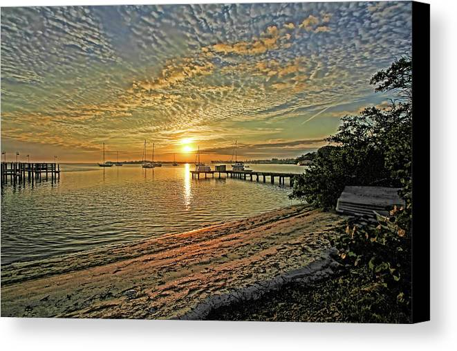 Longboat Key Florida Canvas Print featuring the photograph Mornings Embrace by HH Photography of Florida