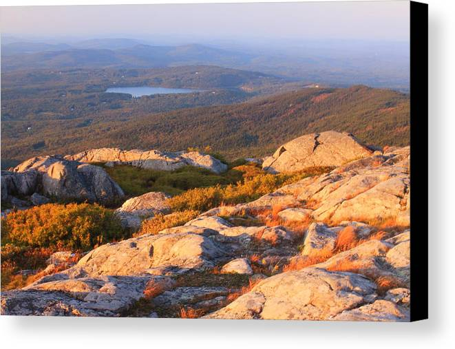 Mount Monadnock Canvas Print featuring the photograph Mount Monadnock Summit View by John Burk