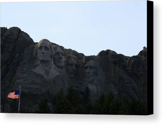 National Park Canvas Print featuring the photograph Mount Rushmore by George Jones