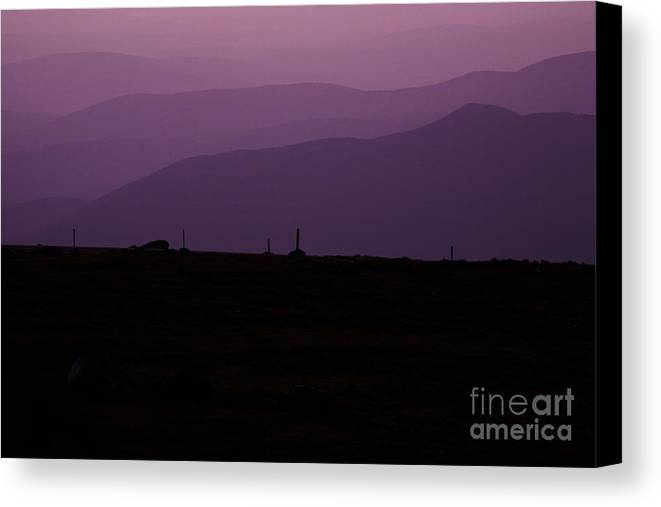White Mountains Canvas Print featuring the photograph Mount Washington New Hampshire - Auto Road by Erin Paul Donovan