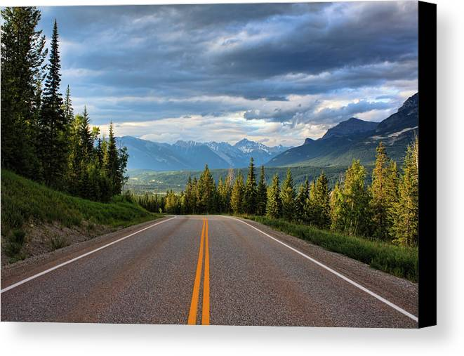 Mountain Canvas Print featuring the photograph Mountain Highway by Matt Dobson