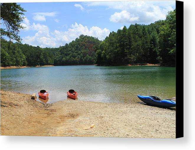 Mountain Lake Canvas Print featuring the photograph Mountain Lake by Karen Ruhl