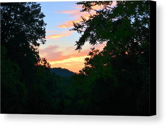 Landscape Canvas Print featuring the photograph Mountain Sunrise by Mike Rosansky