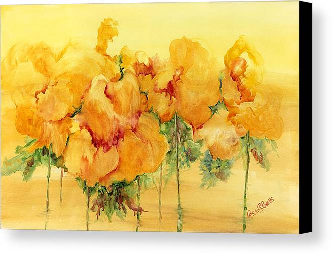 Flowers Canvas Print featuring the painting Multiple Choice by Priscilla Powers