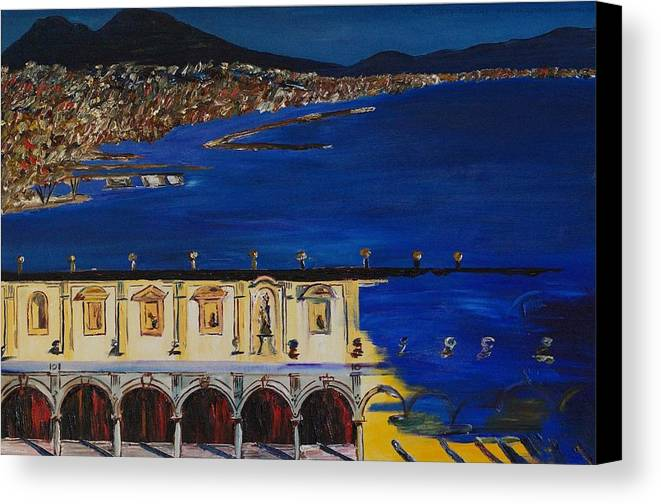 Italy Canvas Print featuring the painting Napoli by Gregory Allen Page