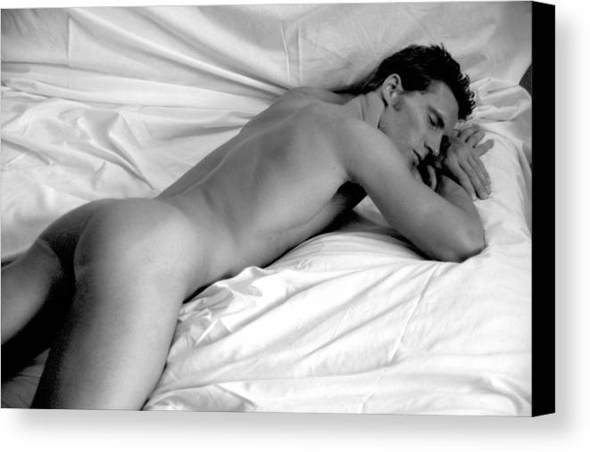 Male Canvas Print featuring the photograph Napping by Dan Nelson