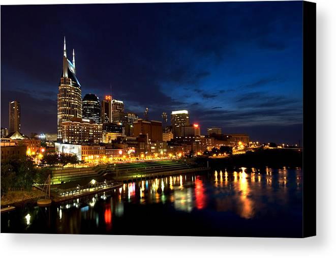 Nashville Canvas Print featuring the photograph Nashville Skyline by Mark Currier