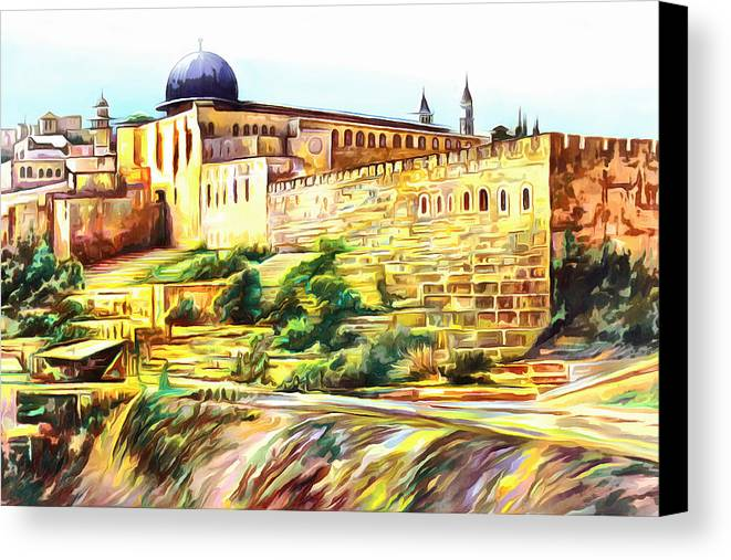 nearby al aqsa mosque canvas print canvas art by munir alawi