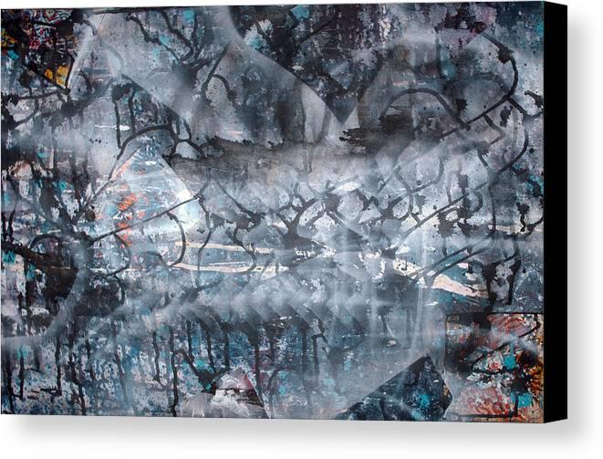 Abstract Canvas Print featuring the painting Neverwas... by Leigh Odom