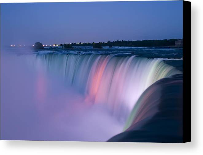 3scape Photos Canvas Print featuring the photograph Niagara Falls At Dusk by Adam Romanowicz
