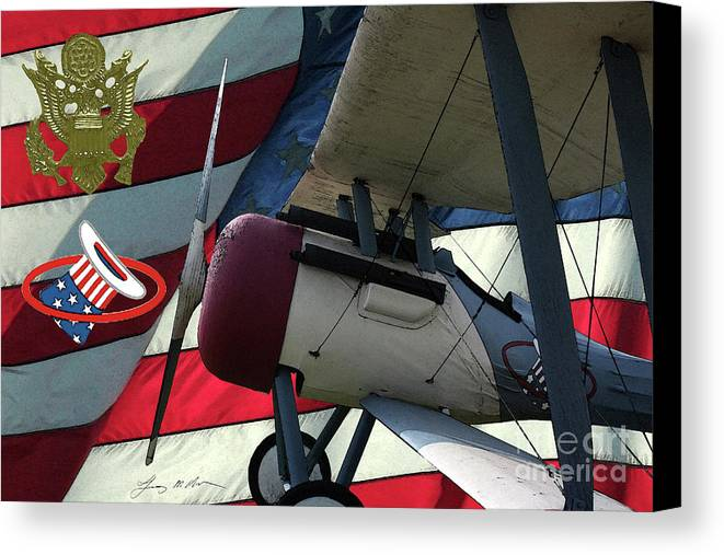 Nieuport 28c Canvas Print featuring the digital art Nieuport 28c Hat In The Ring by Tommy Anderson