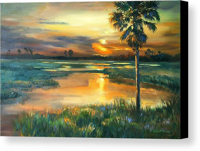 Painting Canvas Print featuring the painting Night Descends by Dianna Willman