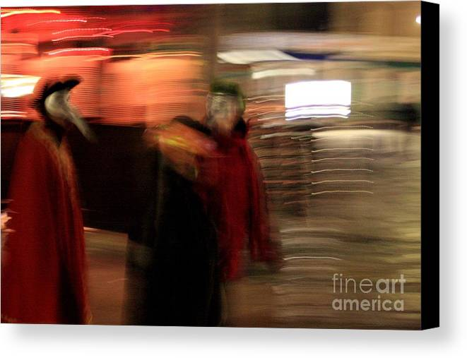 Venice Canvas Print featuring the photograph Night During Carnevale by Michael Henderson