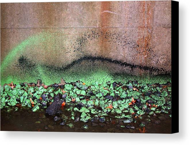 Abstract Canvas Print featuring the photograph Nj Abstract Three by Heather S Huston