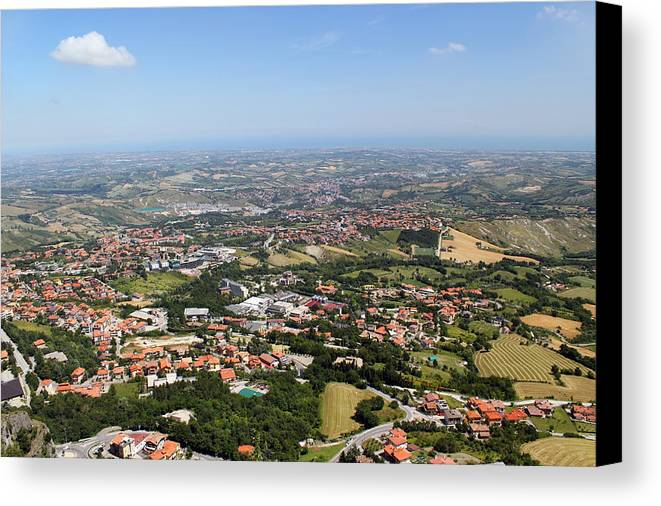 View Canvas Print featuring the photograph Northern Italy From Bird's Flight by Aleksandr Volkov