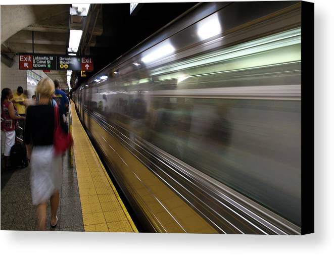 Broadway Canvas Print featuring the photograph Nyc Subway by Sebastian Musial