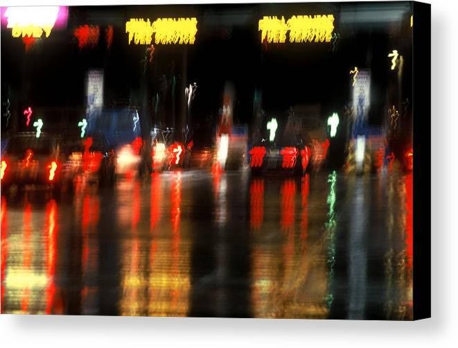 Abstract Canvas Print featuring the photograph Nyc Toll Booth by Brad Rickerby
