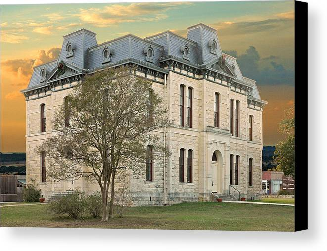 Blanco Canvas Print featuring the photograph Old Blanco Courthouse by Robert Anschutz
