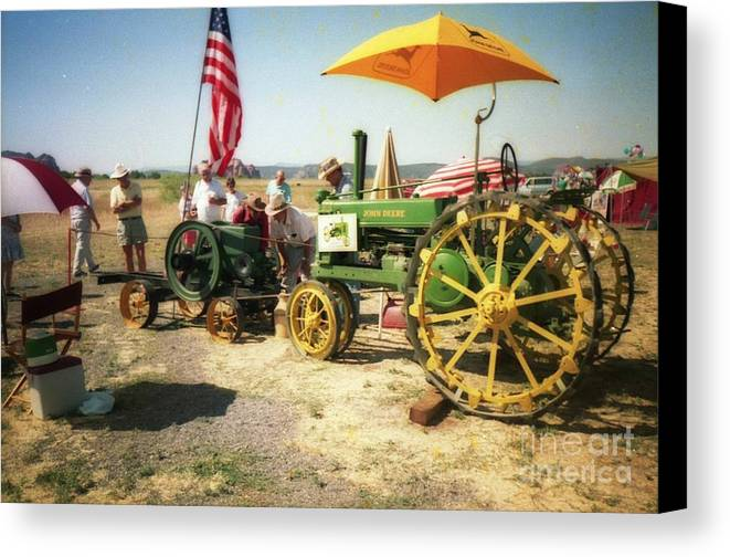 Farm Canvas Print featuring the photograph Old Farm Tractor by Ted Pollard