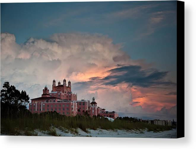 Don Cesar Canvas Print featuring the photograph Old Florida Hotel by Patrick Flynn
