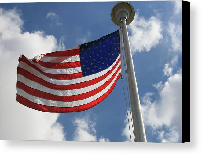 Flag Canvas Print featuring the photograph Old Glory 2 by Bob Gardner