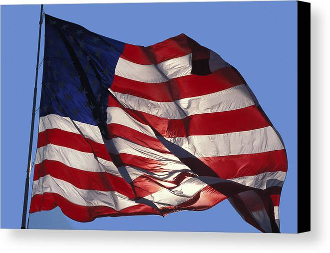 American Canvas Print featuring the photograph Old Glory by Carl Purcell