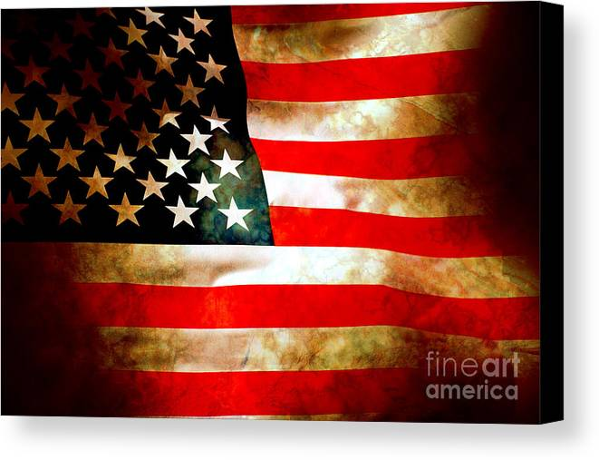 Flag Canvas Print featuring the photograph Old Glory Patriot Flag by Phill Petrovic