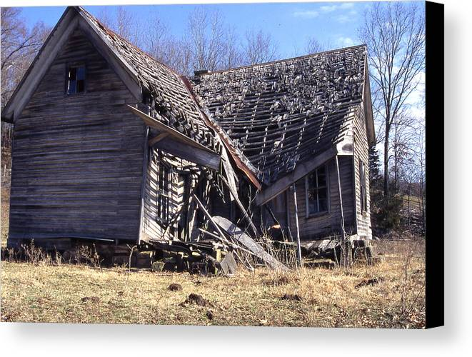 Canvas Print featuring the photograph Old House B by Curtis J Neeley Jr