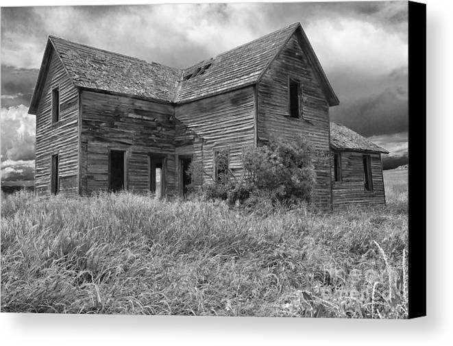 Hdr Canvas Print featuring the photograph Old Montana Farmhouse by Sandra Bronstein