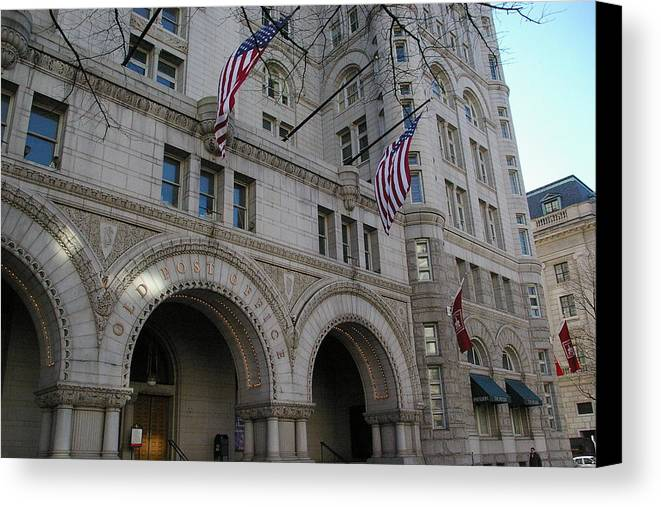 Building Canvas Print featuring the photograph Old Post Office by Veron Miller